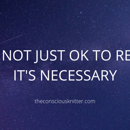 White text and a blue starry sky background. Text reads 'It's not just OK to rest, it's necessary'.